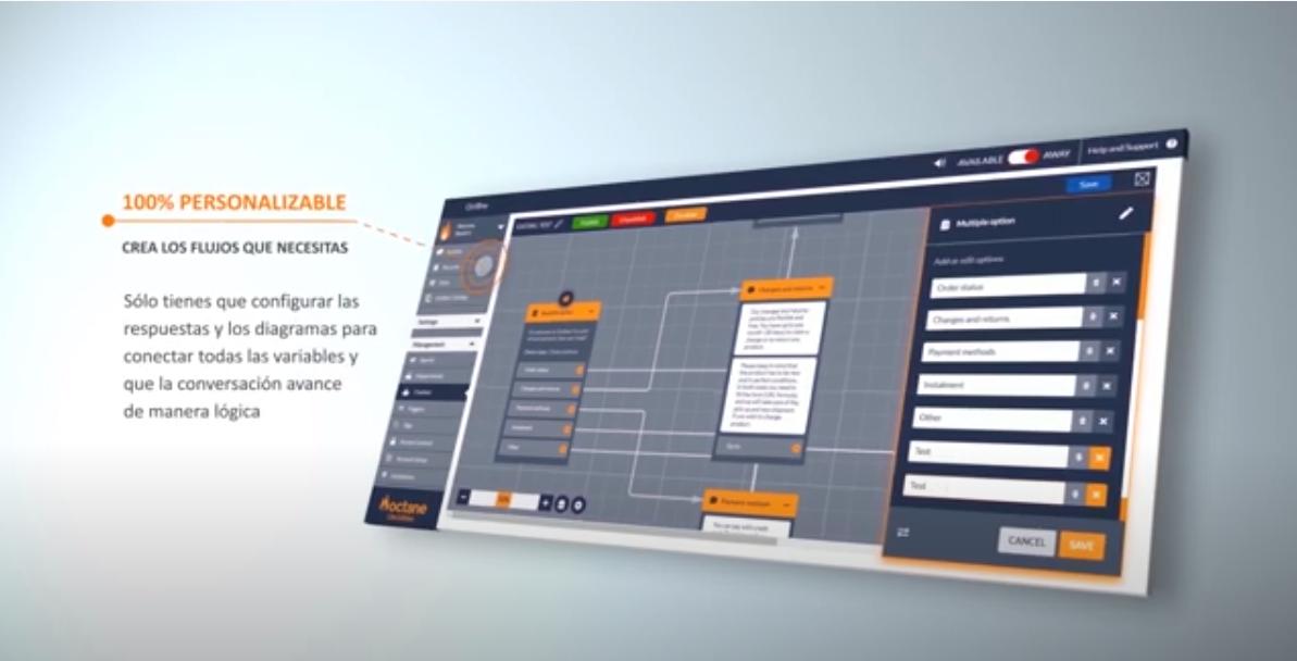 Oct8ne sigue apostando por la experiencia de usuario en « real time » y presenta su nuevo modelo de chatbot para aumentar las ventas