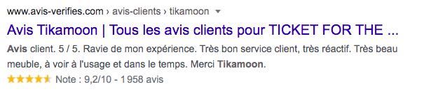 google meta-description Avis Tikamoon