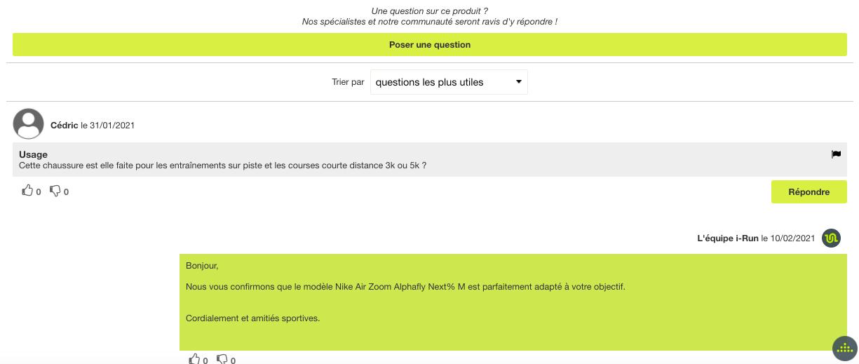 module Q&A d'irun