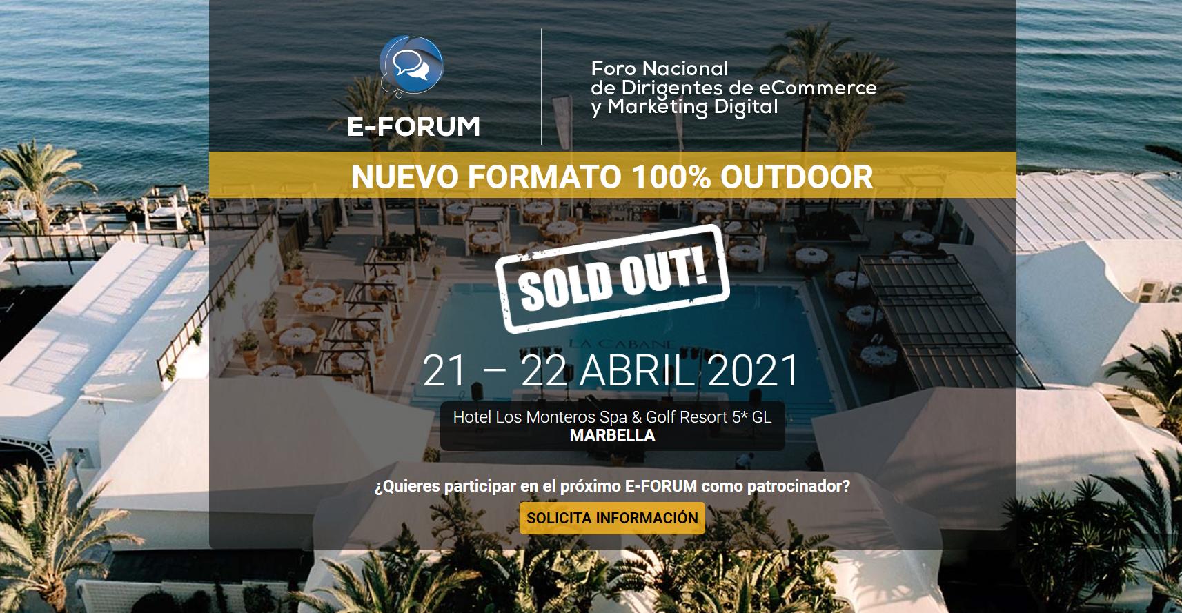 El próximo 21-22 Abril estaremos en E-Forum Marbella dándolo todo