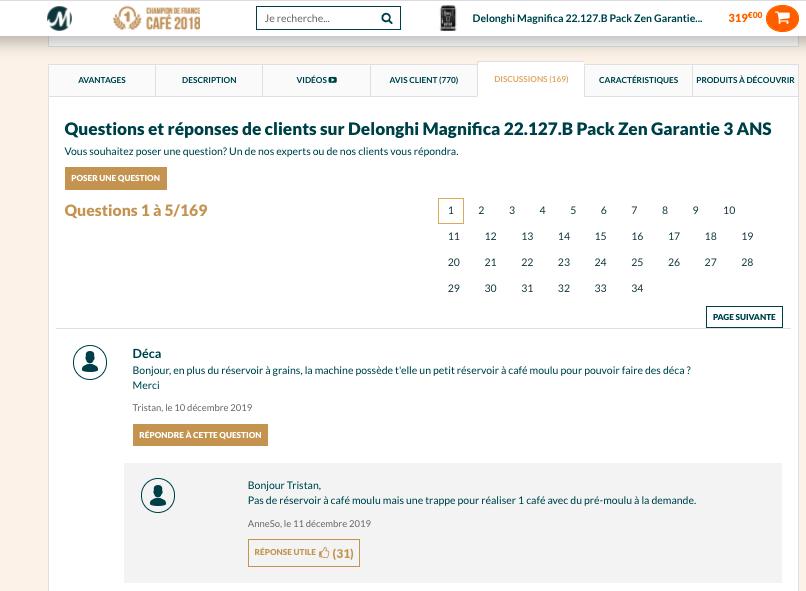 Module Q&A clients Maxicoffee