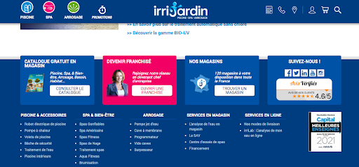 Widjet Avis client site web Irrijardin
