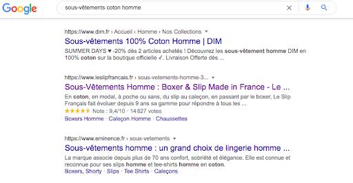 recherche google rich content